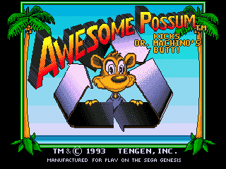 Awesome Possum Kicks Dr. Machino's Butt!