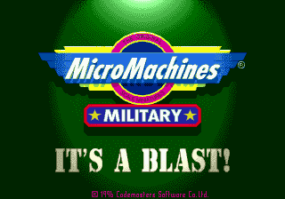 Micro Machines Military: It's a Blast!