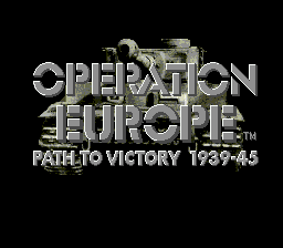 Operation Europe: Path to Victory 1939-1945