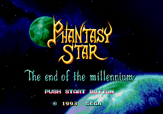 Phantasy Star: The End of the Millenium