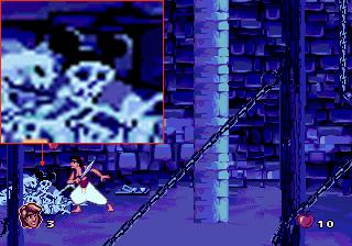 Труп Микки в игре Aladdin
