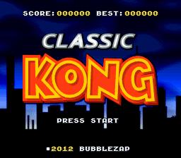 Новая игра для SNES - Classic Kong