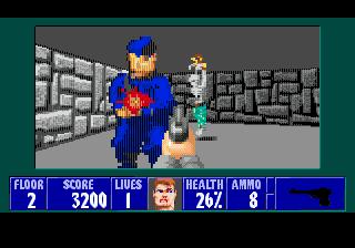 Новые враги в Wolfenstein 3D для SMD