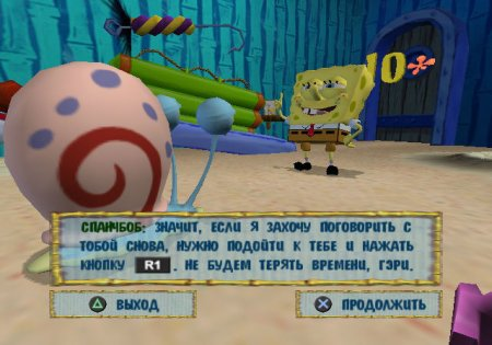 Перевод SpongeBob SquarePants: The Battle for Bikini Bottom для PS2