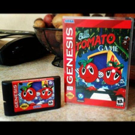 Релиз не вышедший игры Bill's Tomato Game для SMD