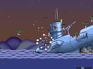 Worms - Игра на разных компьютерах