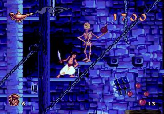 Похожие скелеты в игре Аладдин и Микки Маус