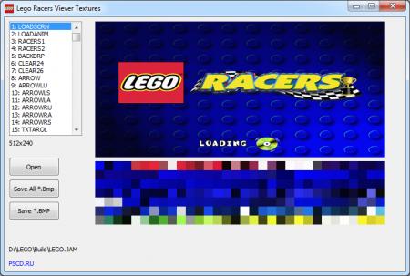 Программа для просмотра текстур в игре Lego Racers